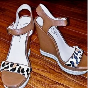 Jessica Simpson Ashella Leopard Wedges